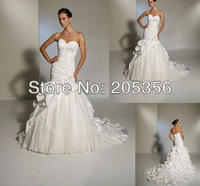 NEW ARRIVAL HIGH QUALITY Free Shipping tailor made sweetheart appliques sheath stylish Bridal Wedding Dresses-Intimate Lover