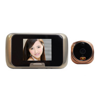 "2.8"" Color LCD Peephole Digital Video Door Viewer Doorbell IR Security Camera PIR Motion Detection Video Photo Recording S15"