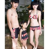 2013 swimwear female family fashion bikini steel small push up hot spring stacking container