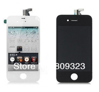 2/lots free shipping for iPhone 4 4G LCD Display+Touch Screen Digitizer +Frame,white and black,100% gurantee