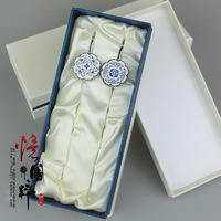 LIN Metal bookmark blue and white porcelain bookmark vintage chinese style gifts abroad gift