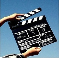 Plate studio props director board clapperboard black white