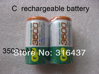 4pcs/lot GP brand NI-MH C size  rechargeable battery in 3500mAh 1.2v freeship for CD/MP3/toy
