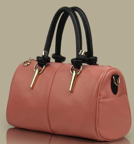 Hotsell ladie's hand bag fashion one shoulder leather bag high quality OL totels candy color knot design204300 Free Shipping(China (Mainland))