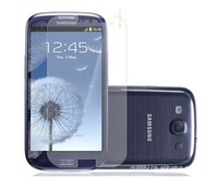 High Quality Clear Screen Protector Guard Film for Samsung Galaxy S3 i9300 with cleaning cloth dhl freeshipping