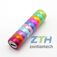 Free shipping 2600mAh External Battery  Rainbow Color Protable Power Bank  for iPhone 4 4s iPad 2 3 Mobile Phone