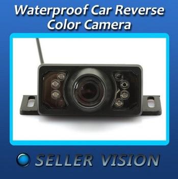 New Waterproof Car Reverse Backup Rear View IR 7 LED Vision CMOS Color Camera