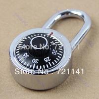 J34 Free Shipping Hardened Steel Shackle Dial Combination Luggage Suitcase Locker Lock Padlock