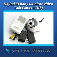 Unique New Digital IR Baby Monitor Video Talk Camera Wireless 2.4""