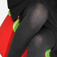 fashionVertical stripe silveryarn shine women stocking sheer tights  trousers silk socks