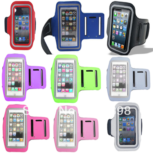 New 9 Color Premium Running Sports GYM Armband Case Cover For Apple Iphone 5 5G DC1052 Free shipping Drop Shipping(China (Mainland))