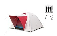 3 person  double  layer with wind rope camping tent