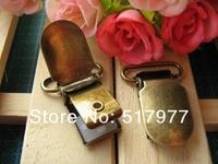 Hot selling!100 pcs/lot Clothing accessories belt accessories spare Braces Clip clip super strong high-grade silica clip, Bronze