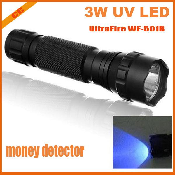 Фонарик UltraFire wf/501b CREE 3W UV LED 395/410nm WF-501B