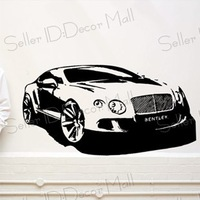 Famous sports car PVC Wall Sticker ,Wall Decal ,Wallpaper, Room Sticker, House Sticker Free Shipping C-91