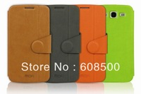 1pcs Free Shipping 2013 New MOFI PU Leather case for Samsung galaxy Grand Duos I9080 I9082
