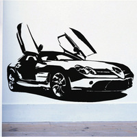 Benz Famous sports car PVC Wall Sticker ,Wall Decal ,Wallpaper, Room Sticker, House Sticker Free Shipping C-102
