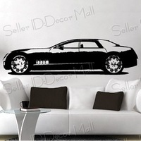 Cadillac Famous sports car PVC Wall Sticker ,Wall Decal ,Wallpaper, Room Sticker, House Sticker Free Shipping C-101