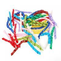 Free Shipping Lot of 50 Precut Pieces Curled Grosgrain Korker Hair Bow Polka Dots Ribbon