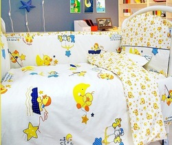 10pc toddler bedding sets with the filler, baby bedding sets with the 100% cotton filler,size 140*70/130*70mm,EMS Free Shipping(China (Mainland))