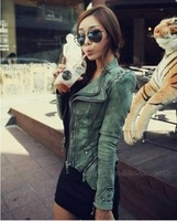 Spring and autumn new arrival casual top small denim outerwear women's long-sleeve coat 2013