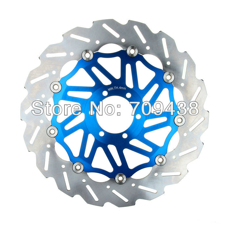 2 X Front Brake Disc Rotor For VOXAN BLACK MAGIC 995 2006 ROADSTER 01-06 CAFE RACER 995CC 2000-2006 01 02 03 04 05 COOL BLUE(China (Mainland))
