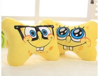 car cushion for neck  sponge bob hold pillow /head cushion /auto health leaning Square soft two expression Can wholesale