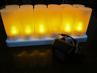 Electronic candle lights led candle lamp candle lamp eye-lantern decoration lamp 12 charge candle
