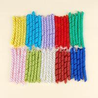 Free Shipping Lot of 50 Precut Pieces Curled Grosgrain Korker Hair Bow Black Polka Dots Ribbon