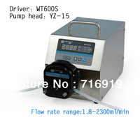 WT600S Led digital display High Flow Precise variable speed peristaltic pump for water pumps fluid  / YZ15 Pump head