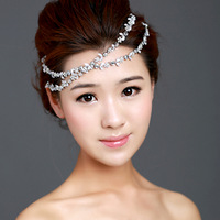 Free shipping sweet bride Small flower crystal princess hairband wind hair accessory wedding jewelry