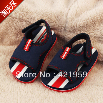 2013 summer boys shoes velcro foam little boy sandals baby toddler shoes slip-resistant sandals