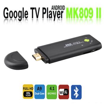 Free Shipping MK809 II Android 4.1 Mini PC TV RK3066 1.6GHz Cortex A9 Dual core 1GB RAM 8GB Bluetooth 3D TV Box