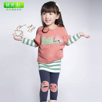 Free shipping Children's 2013 set sportswear long-sleeve spring and autumn baby sweatshirt