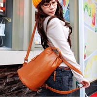 New 2014 Fashion Women Bag Lady PU Leather School Bag Backpack