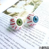 ON SALE Free Shipping HARAJUKU accessories 666 stud earring punk earring no pierced earrings