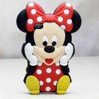 Hot Sale! Free Shipping Wholesales New Arrival Fashion 3D Mickey Mouse Cute Soft Back Case Cover Skin for iPhone5 5G