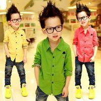 free shipping Ann children's baby clothing boys long-sleeve shirt child casual shirt f-316 wholesale