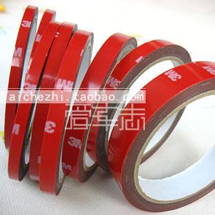 Min. order $10, Mix Order Double faced adhesive 3m foam tape 8 mm long 3 meters car super foam glue strong double faced adhesive(China (Mainland))