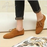 Free Shipping 2013 New PU material to help low single in Europe and the United States British style shoes with casual flat shoes