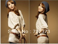 2012 spring women's brief elegant batwing sleeve slim hip knit dress/lady knit dress(with belt)/knitting seeater /sweater