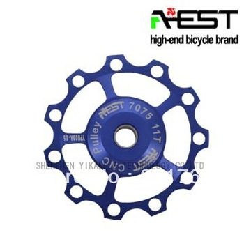 Bike rear derailleur guide wheel 11TCNC ultralight aluminum alloy guide pulley AEST high-end bearing guide pulley