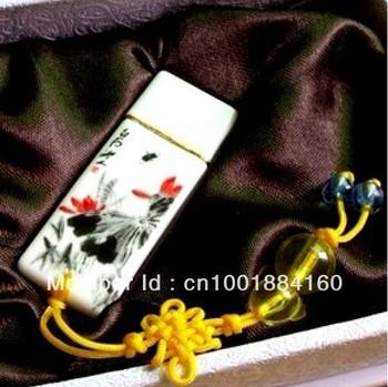 Free shipping genuine capacity Porceclain USB Stick,usb flash1GB,2GB,4GB,8GB,16GB,32GB 64GB