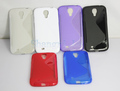 IN stock! Abrasion TPU Skin Soft Gel Case for Samsung Galaxy S4 i9500 Free shipping 20pcs/lot