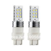 2 X 3157 Car White 12 SMD LED Bulb Tail Turn Signal Light 12W