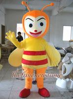 2260 orange bee insect hot sale, free ship , Mascot Costume, cartoon , Halloween cosplay Dress