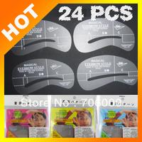 Best selling! Thrush card thrush plate eyebrowleine template eyebrow templateow 6 sets of 24   eyebrow shape Free shipping