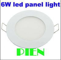 6w LED panel light High quality 2835 smd led ceiling lamp for home 700lm 85-265v recessed Free shipping 1pcs