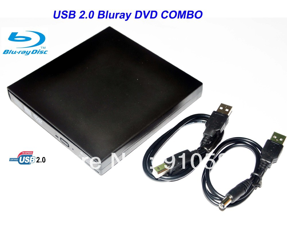 Free shipping, USB 2.0 External BD ROM Blu-Ray Drive, Blu-ray 3d Player BLU RAY BD-ROM 3D Drive(China (Mainland))
