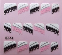 BJ-24 Designs French Nail Stickers Decoration For DIY Nails / 3D Nails / Nail Art Beauty 20pcs/lot Free Shipping